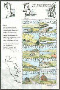 Faroe Is 2004 Suthuroy Island ss--Attractive Landscape/Art Topical (441) MNH