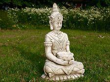 Hands up Buddha Small Statue Buddah Stone Cast Handmade Garden Ornament Oriental