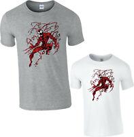 Spider Man Venom & Crazy Carnage T-Shirt,Avengers Marvel Comics Adult & Kids Top