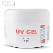 THE EDGE NAILS UV GEL - CLEAR 5g grams False Nail Tips Overlay Builder One Step