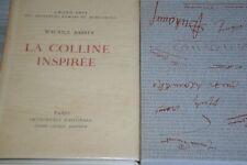 André Sauret Editeur exemplaire N°40 / La colline inspirée / Maurice Barrès