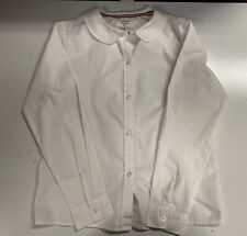 French Toast White Button Shirt, Peter Pan Collar, School Uniform Size 12 Cotton