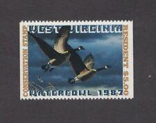 WV1h - West Virginia First Of  State Duck Stamp.Hunter Type Single. MNH. OG.