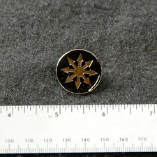 COIL arrows logo metal pin - john balance scatology chaos black sun star