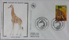 ENVELOPPE PREMIER JOUR - 9 x 16,5 cm - ANNEE 2000 - GIRAFE RETICULEE