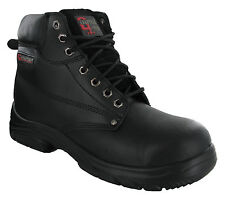 Grafters Wide EEEE Fitting 7 Eye Leather Safety Steel Toe Cap Mens Boots UK6-14