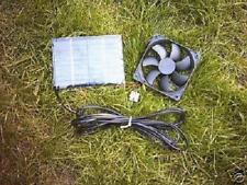Kit de Ventilador Solar, 3 vatios, 80 mm Ventilador, parrilla, para Perrera, casa de aves de corral/Pollo