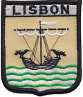 Portugal Lisbon City Coat of Arms Shield Flag Embroidered Patch Badge