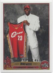 MVP LeBron James Topps Rookie 2003-04 RC Draft Pick #1 CAVS LAKERS HOF #221