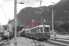 PHOTO  SWITZERLAND TRAIN 1985 WAB LAUTERBRUNNEN VARIOUS