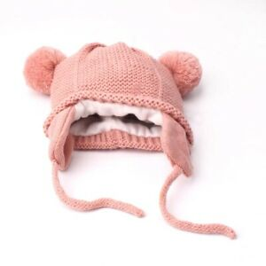 Toddler Baby Winter Hat Soft Wool Warm Earflap Beanie Infant Knit Cap OK