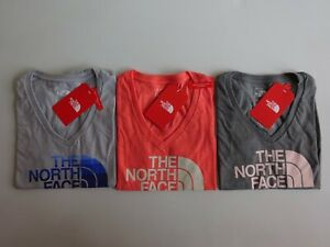 North Face Women's Short Sleeve Half Dome V Neck Tri-Blend T Shirt NWT 2019