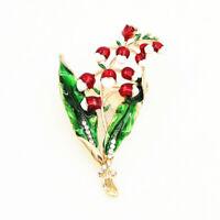 Women's Enamel Rhinestone Flower Charm Betsey Johnson Brooch Pin Jewelry Gift