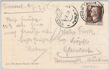 ITALIA REGNO storia postale   Sass 212  ISOLATO su CARTOLINA : RICCIONE SPIAGGIA