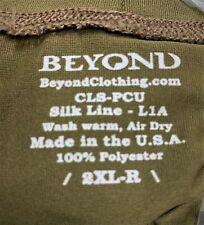 Beyond PCU Level 1A Silk Line T-Shirt XXLARGE  LONG SLEEVE Coyote