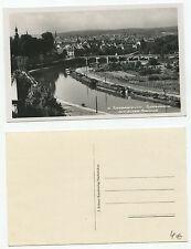 09216 - Saarbrücken - Saarpartie mit alter Brücke - Echtfoto -alte Ansichtskarte