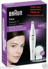 Braun FACE 810 Womans Ladies Peli Facciali Epilatore Pinzetta labbro superiore Chin + Pennello
