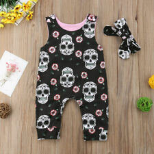 Newborn Baby Floral Xmas Outfits Printed Jumpsuit Photoshoot Prop Headband Set