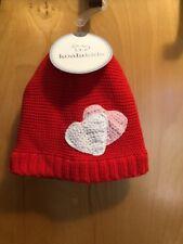 NEW Girls Koala Kids Valentines Red W/Hearts Beanie Toboggan Hat Size 6-12 Month
