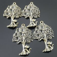 5 pcs Antiqued Bronze Alloy Large Tree Charms Pendant Jewelry Crafts 31646
