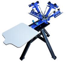 4 Color 1 Station Screen Printing Press Machine With Metal Holder Shirt Printer