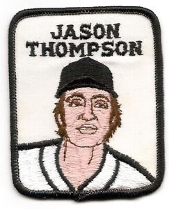 JASON THOMPSON 1979 Vintage Penn Emblem Baseball Patch Pirates-Tigers-Angels
