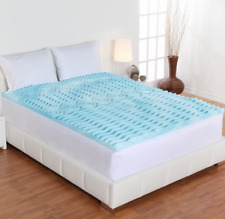 Orthopedic 2 INCH NON Memory Foam Mattress Topper Queen Size Gel Pad Bed Cover