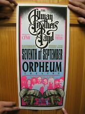 Allman Brothers Poster Seventh Of September Silk Screen Signed The