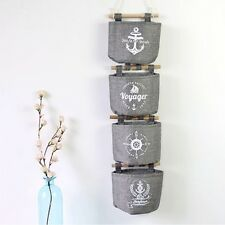 Useful Practial Cotton Wall Storage Linen Hanging Organizer Bag Pocket Hotsale