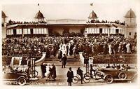 Vintage Kent Real Photo Postcard, The New Bandstand HERNE BAY Classic Cars AF7