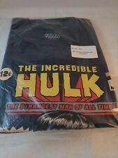 Funko Pop Tees Marvel The Incredible Hulk Comic Cover Blue T-Shirt Mens Size LG