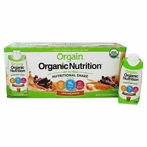 ORGAIN ORGANIC NUTRITIONAL PROTEIN SHAKE SWEET VANILLA BEAN 12 COUNT EXP 03/22