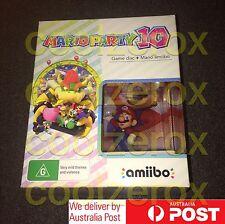 *NEW* Nintendo Wii U - Mario Party 10 - Amiibo Bundle (GAME+AMIIBO) - Aus Seller
