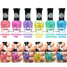 6 KLEANCOLOR NAIL POLISH MATTE GLITTER SUGAR CANDY INSPIRED TOP COAT - KNP13
