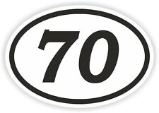 70 SEVENTY NUMBER OVAL STICKER bumper decal motocross motorcycle Aufkleber