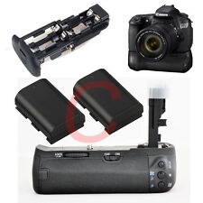 Battery Grip For Canon EOS BGE9 BG-E9 60D SLR Camera +2x LP-E6 1800mAh