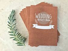 Children's Wedding favours. 6 Pack Wedding Colouring and Activity books  x6