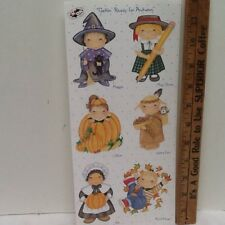 Autumn Kids in Costumes Thanksgiving SCRAPBOOKING Stickers by Tie Me To The Moon