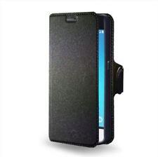 Custodia Flip portadocumenti con stand per Samsung Galaxy J1 2016, Colore: Nero