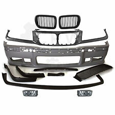 Set Bumper front + Fog + Grille Bracket + Kidneys BMW E36 Built 90-99 M3 Looks