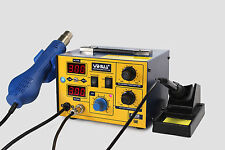FR-YIHUA 862D SMD HOT AIR REWORK STATION WITH SOLDERING IRON NEW 220V
