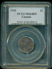 1935 Canada King George V Small Cent PCGS MS-64BN