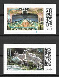 Bund Mi.Nr. 3628-3629** (2021) postfrisch (selbstklebend)/Neuausgaben September