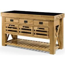 Ordinaire Grenoble Solid Oak Furniture Large Granite Top Kitchen Island Unit Worktop