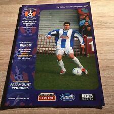 Kilmarnock v Dundee 2002/03