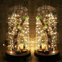 20 100 LED Wire String Lights Fairy Christmas Party Decor Holiday Wedding Supply
