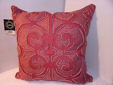 Rose Fushia Square Pillow SURYA Amelia 20x20 Geometric AL001-2020 Raised Design
