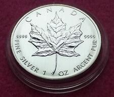 2005  CANADA  MAPLE LEAF $5 FIVE DOLLAR  SILVER  BRILLIANT UNCIRCULATED1oz  COIN