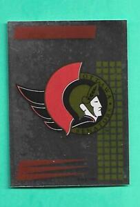 (1) OTTAWA SENATORS 1992-93 PANINI FRENCH STICKER LOGO FOIL CARD (RARE ) (V2931)
