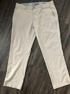 Puma Golf Stretch Pounce Pants - Mens 38 x 30 - Beige - 574228 - Excellent (EUC)